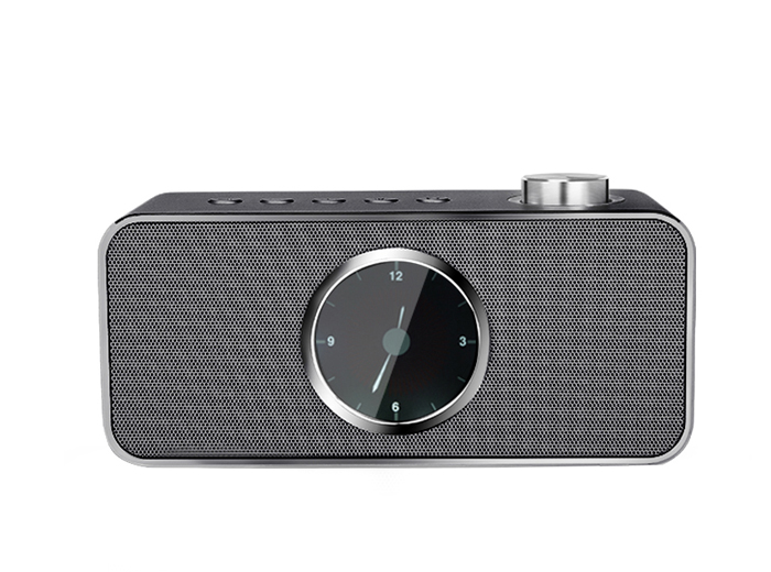 FM0186 Custom Design Bt Alarm Clock Home Wireless Speaker